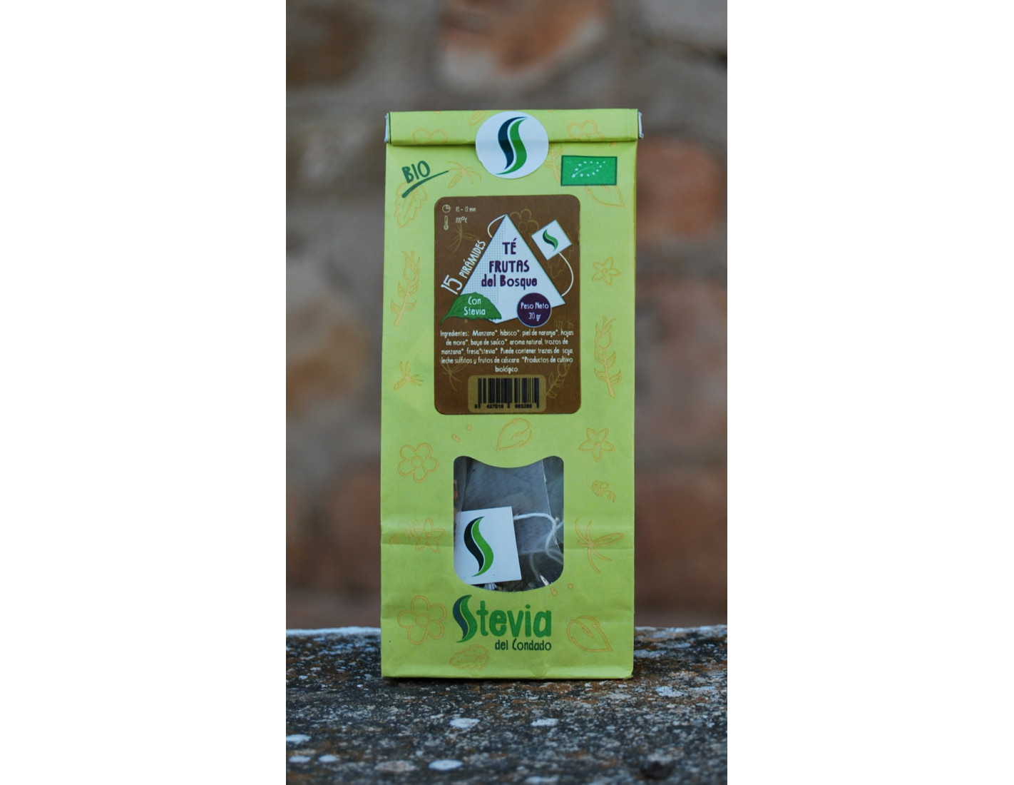 Pack de 5 Tés o Infusiones con Stevia BIO