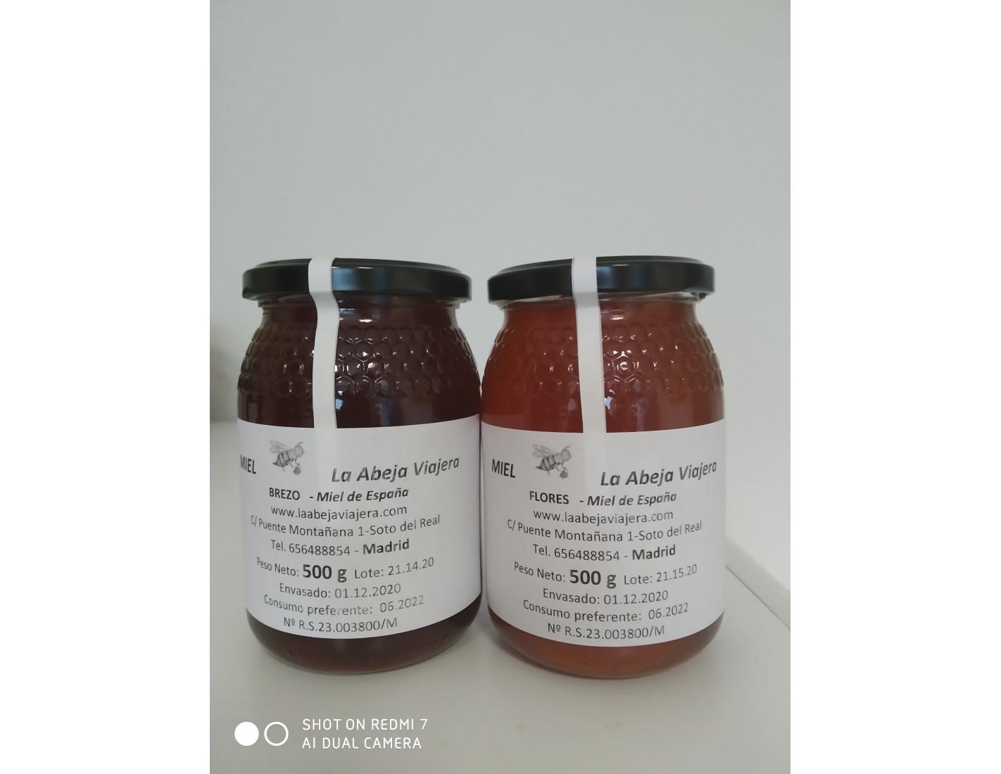Dos variedades  de miel 500g