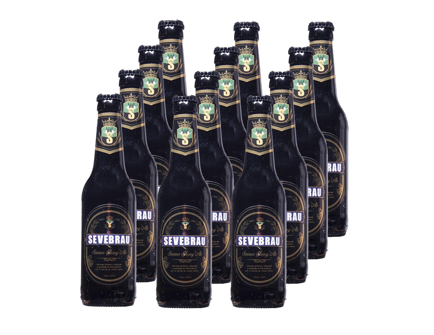 Lote de 12 Cervezas Serona Strong ale...