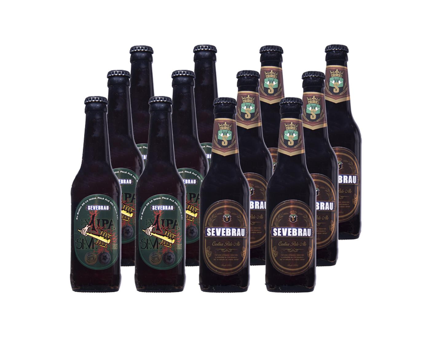 Lote 6 cervezas Ex1 Ipa mas 6 Castua...