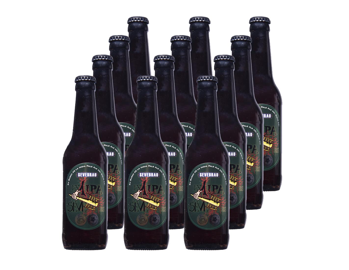 Lote 12 cervezas Ex 1 Ipa Sevebrau
