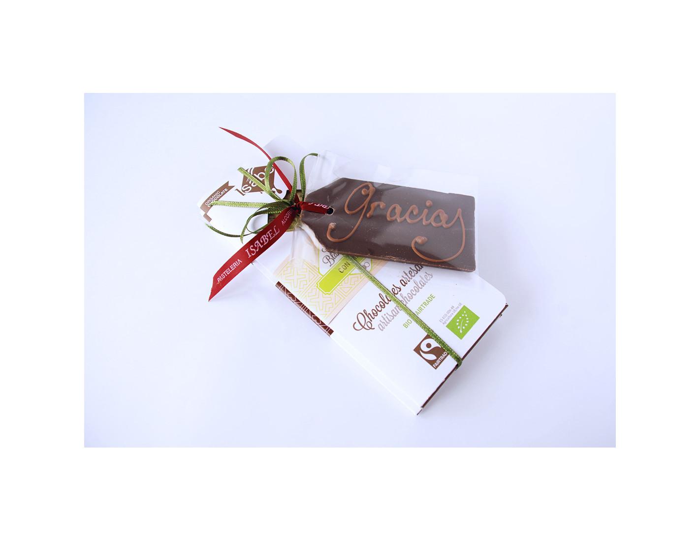 Lote nº 1 - Tabletas variadas chocolate BIO (2) + Tarjeta Chocolate BIO