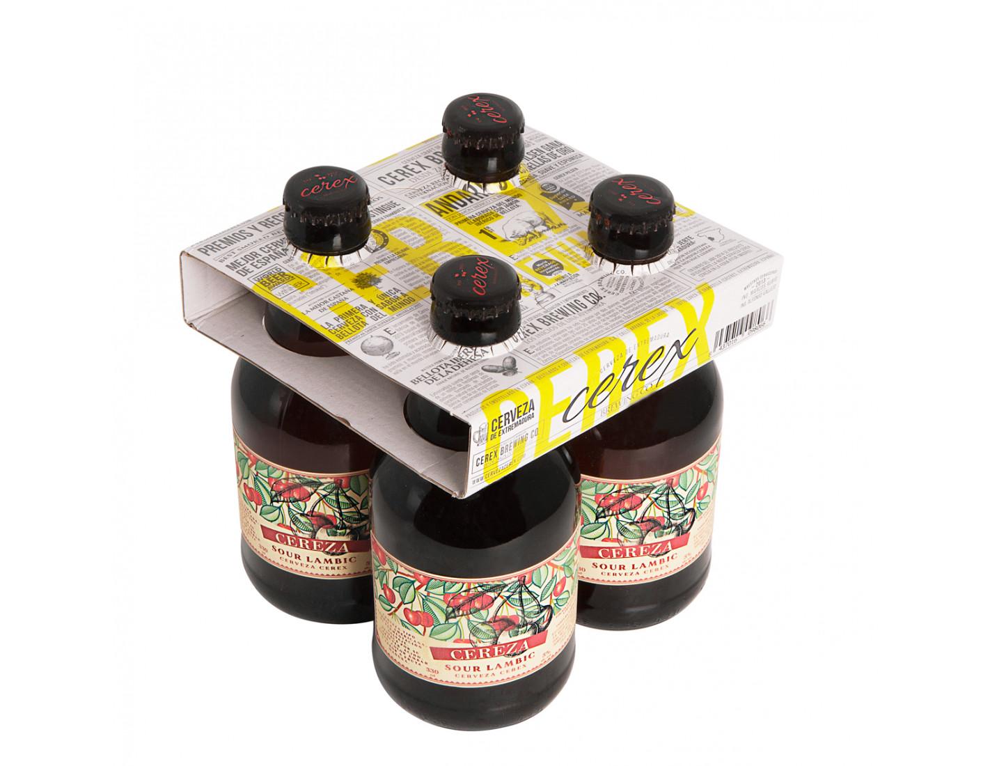 """Pack 4 cervezas artesanales Cerex 33 cl Sour Lambic - Mejor Cerveza Artesanal de España Premios""""World Beer Awards 2017"""""""