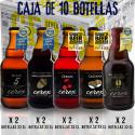 Pack 10 cervezas artesanales Cerex 33 cl. (2 bot. Pilsen, 2 bot. Ibérica de Bellota, 2 bot. Castaña, 2 bot. Cereza, 2 Andares)