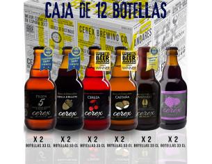 Pack 12 cervezas artesanales Cerex 33 cl.