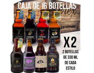Pack 16 cervezas artesanales Cerex 33 cl.