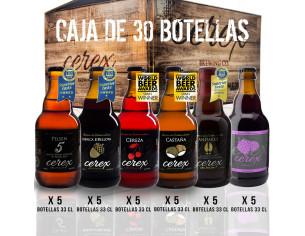 Pack 30 cervezas artesanales Cerex 33 cl