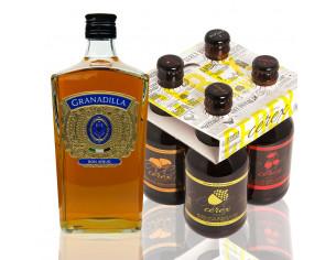 Pack 4 cervezas artesanales Cerex 33 cl + Ron Granadilla Añejo Selección Superior 700 ml