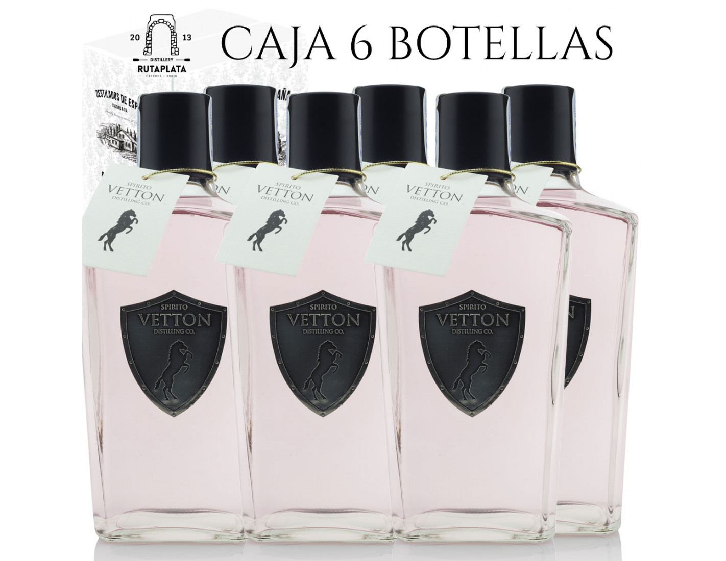"Pack 6 botellas Spirito Vetton Cereza 700 ml Premio Mejor Ginebra de España ""World Gin Awards 2019"""