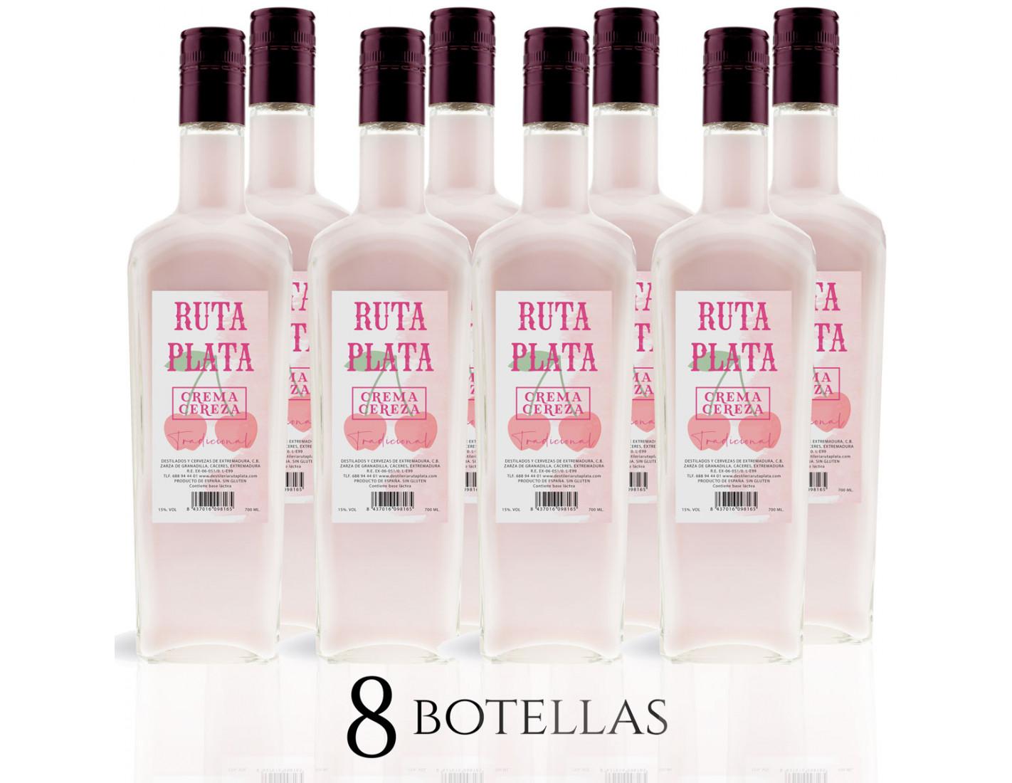 Pack 8 Crema de Cereza RutaPlata 700 ml