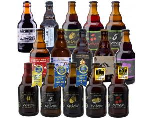 Pack 15 cervezas surtidas Cerex 33 cl