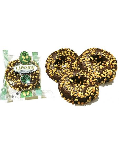 Rosquillas de chocolate con cacahuetes | Sin azúcar